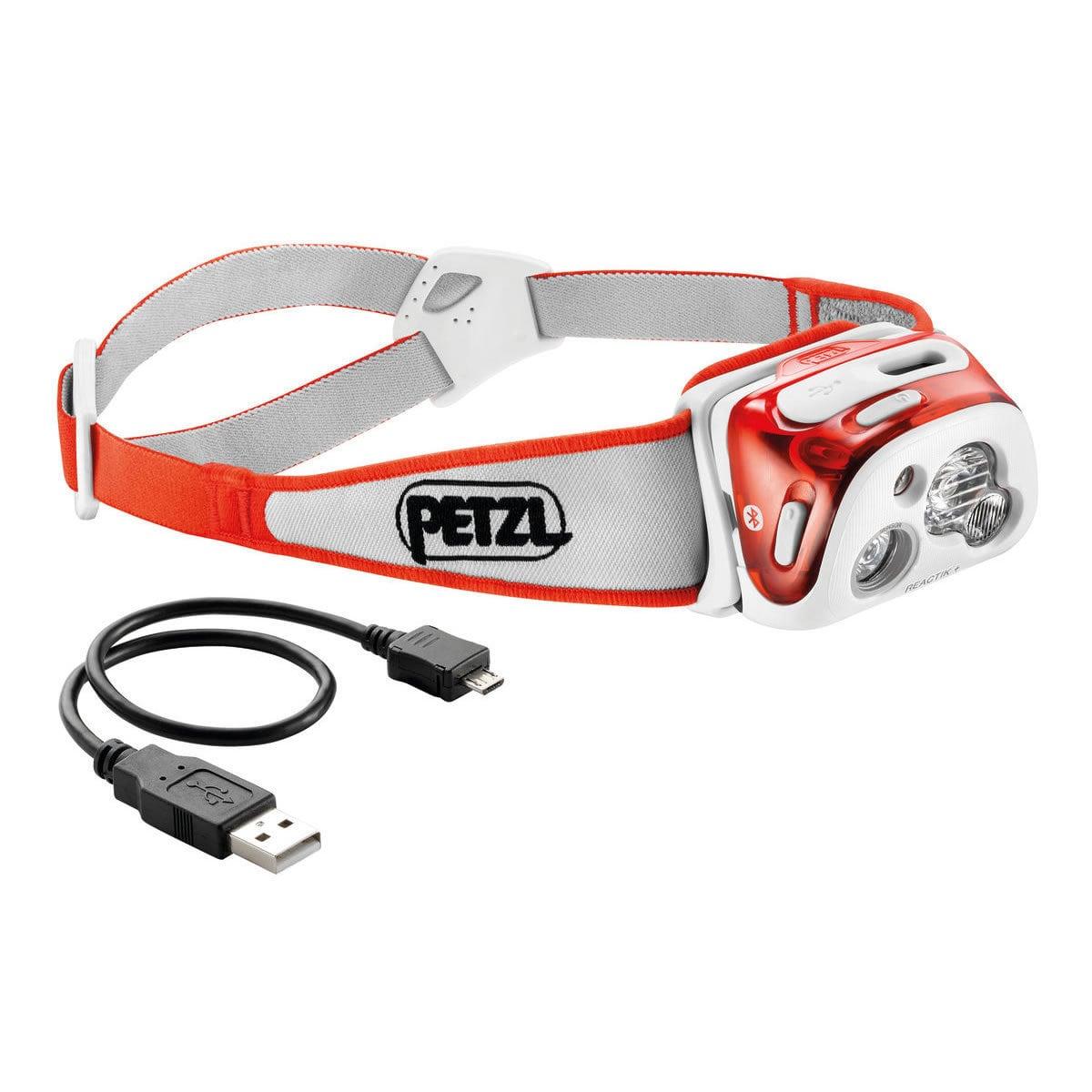 Petzl  REACTIK + 300 Lumens Headlamp Coral - Orange