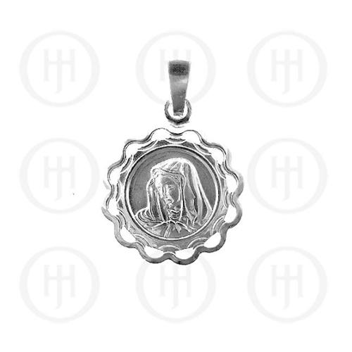 Doma Jewellery MAS07134 Sterling Silver -Religious Mary Pendant -P-1026
