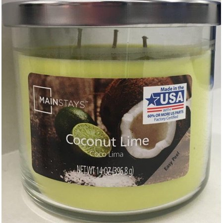 Mainstays Coconut Lime Chrome Lid Jar