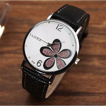 Outtop Womens Watches Flower Fashion Leather Analog Quartz Vogue Wrist (Flower Fashion Watch)