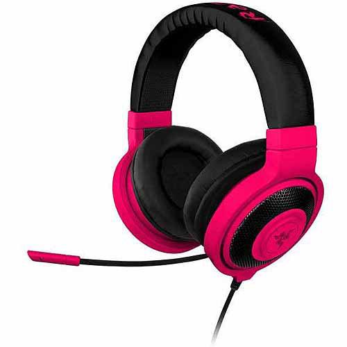 Razer Kraken PRO Over Ear PC and Music Headset Neon Red by Razer