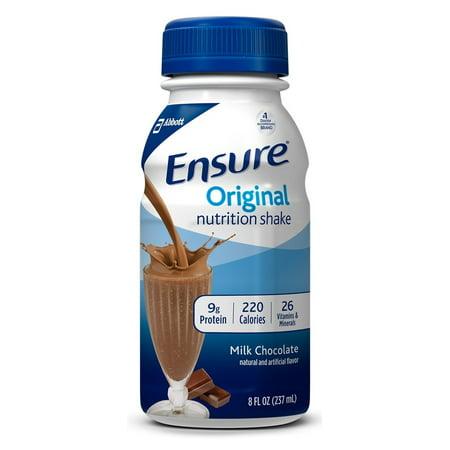 Ensure Original Nutrition Shakes, Milk Chocolate, 8 oz Bottles - Pack of 6