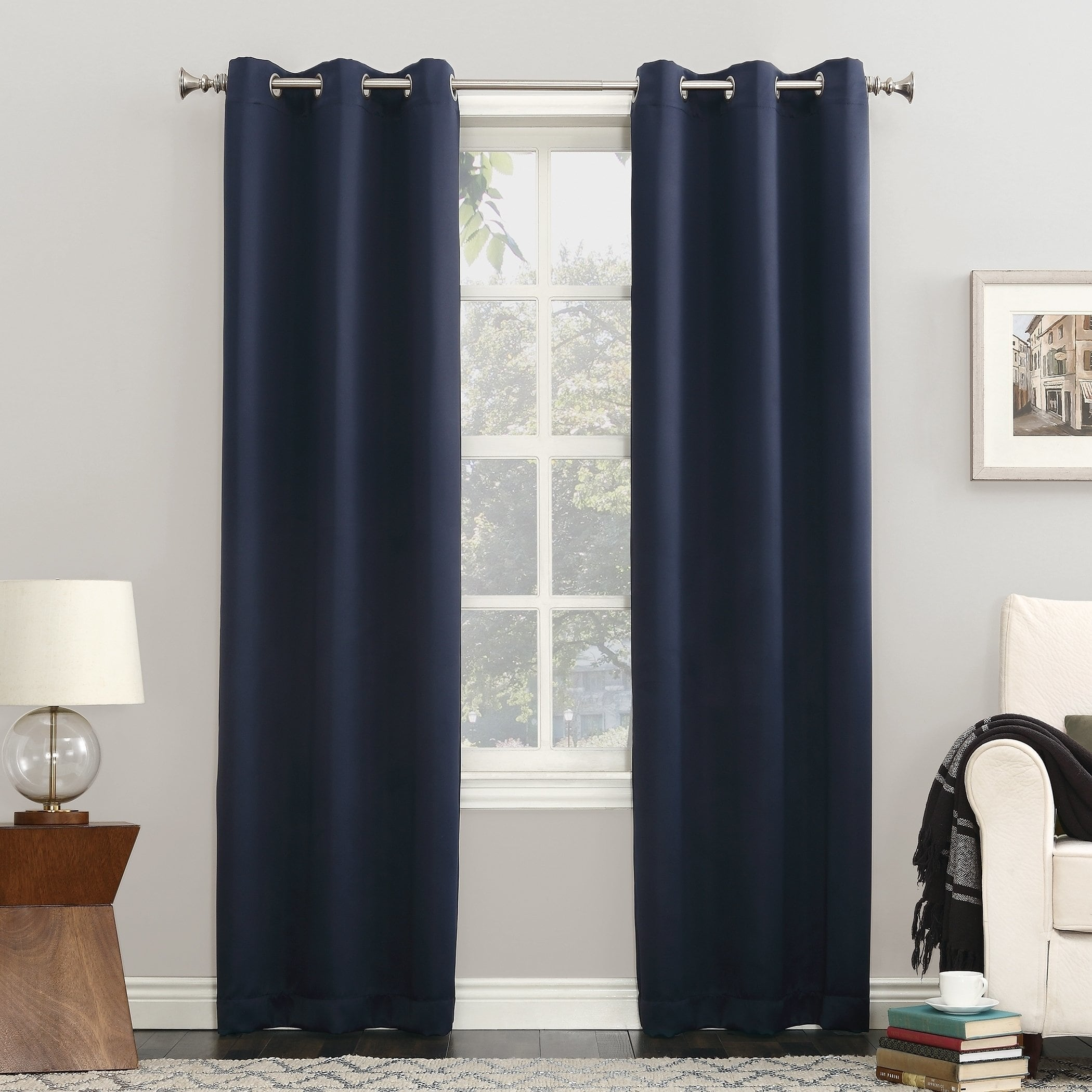 "95""x54"" Kenneth Energy Saving Blackout Grommet Top Curtain Panel Charcoal - Sun Zero"