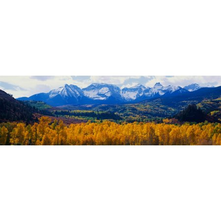 Sneffels Mountain range in autumn Poster Print