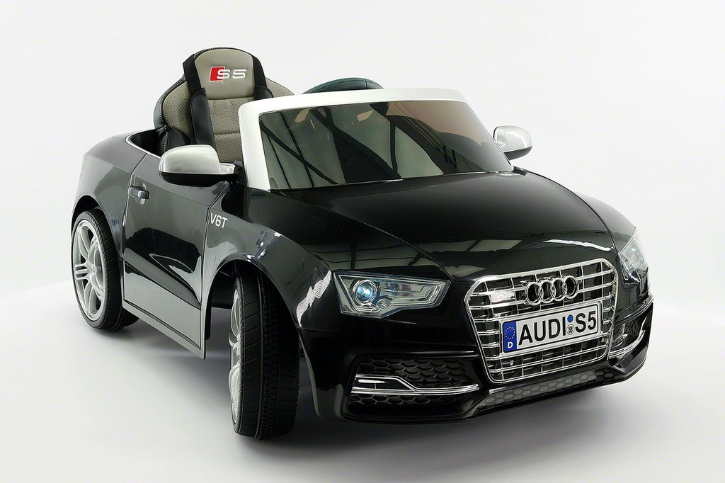 Audi S5 Sport Licensed Electric Battery Power Ride On Toy Car For Kids |  Black