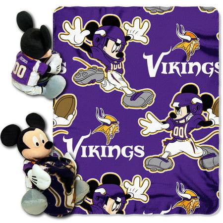 Minnesota Vikings Comfy Throw - Minnesota Vikings The Northwest Company 40'' x 50'' Mickey Mouse Hugger Throw - No Size