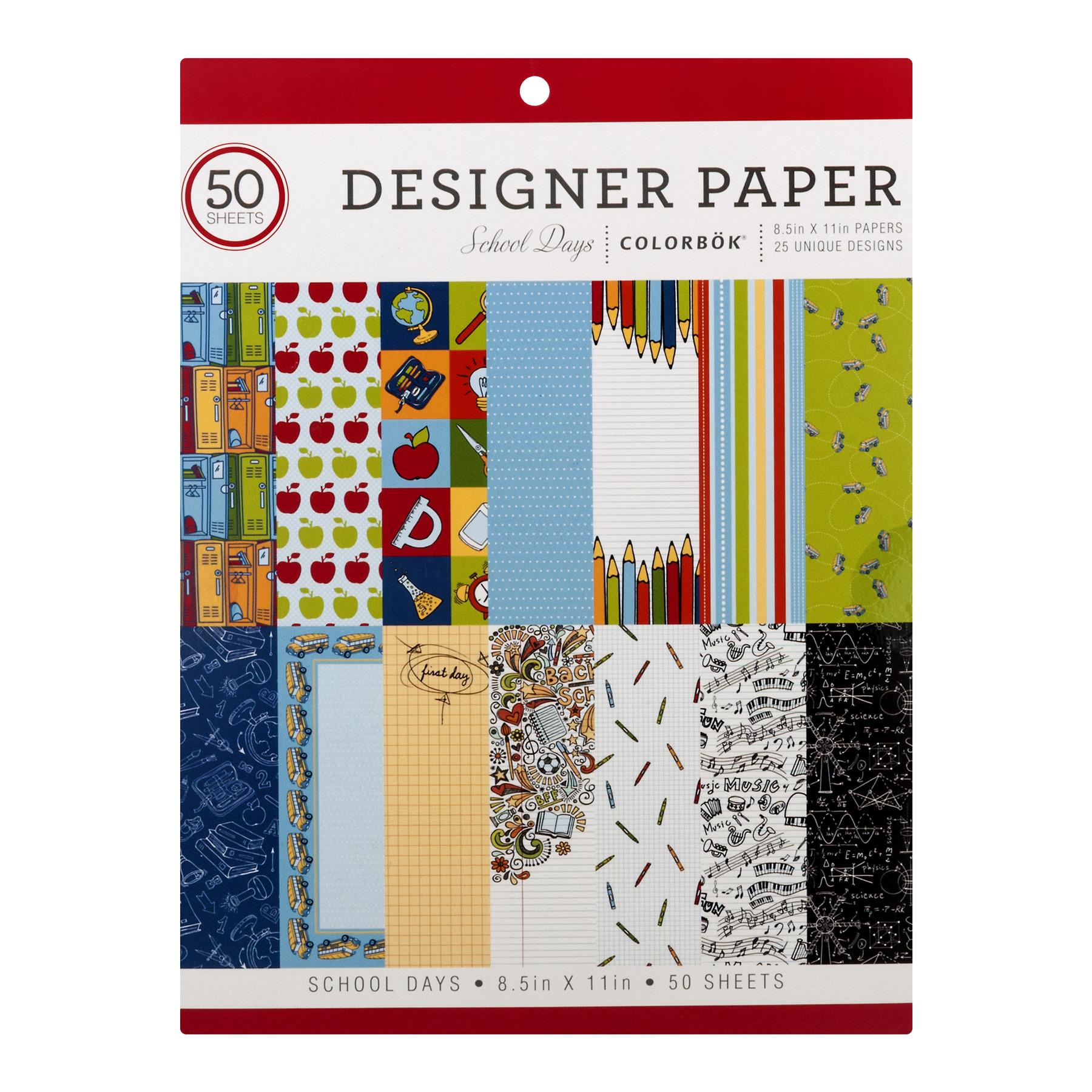 Colorbök School Days Designer Paper 8.5in X 11in, 150.0 CT