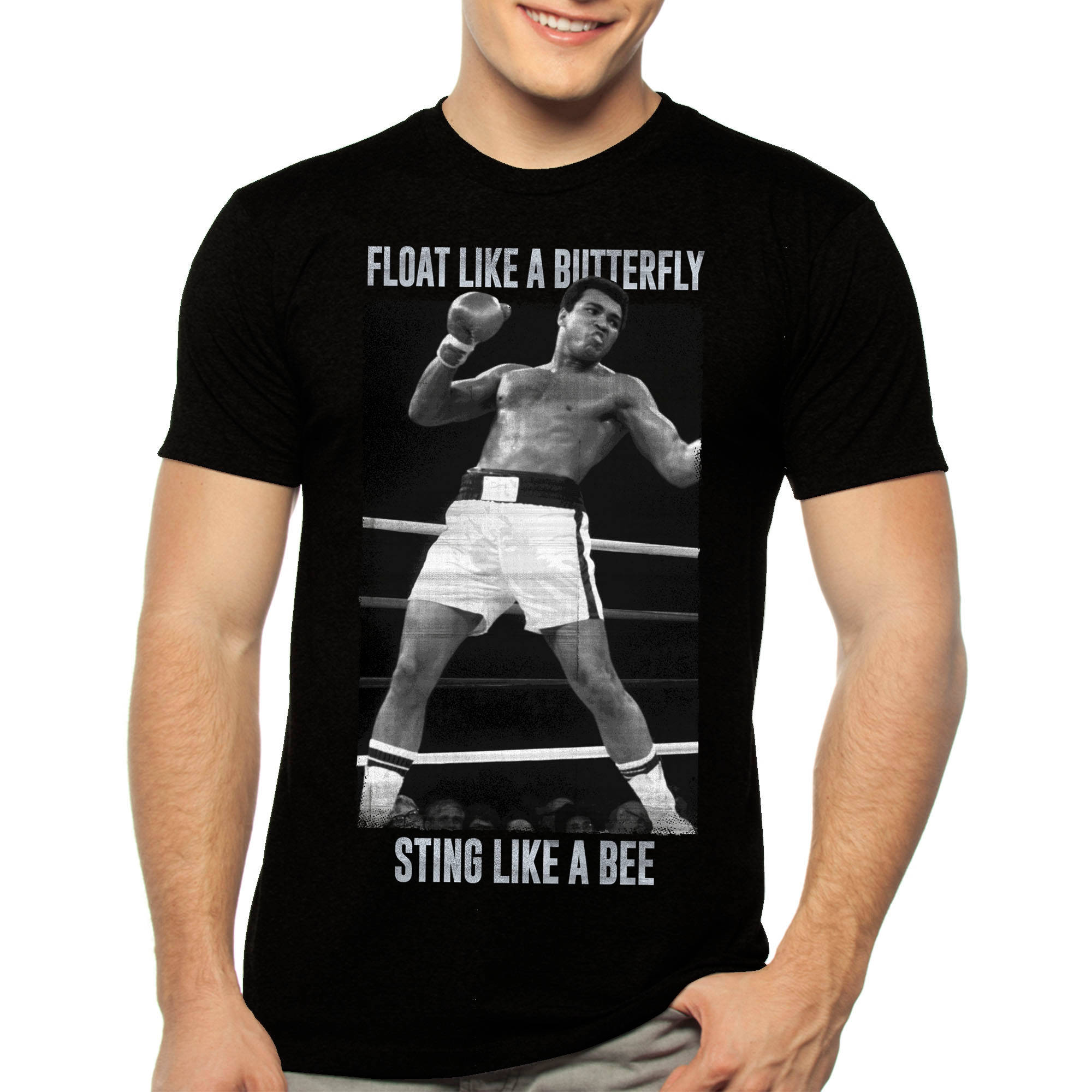 Muhammad Ali Big Men's Float Like a Butterfly Graphic Tee, 2XL