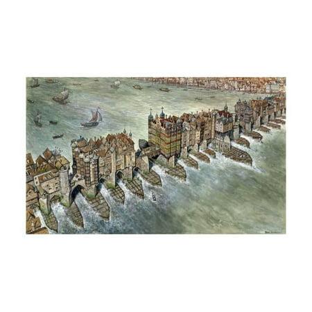 Old London Bridge, C 1600 Print Wall Art By Peter Jackson