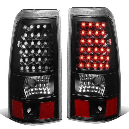 for 03-07 chevy silverado/gmc sierra fleetside pair of led tail brake lights (black housing clear lens) 04 05