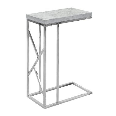 ACCENT TABLE - GREY CEMENT WITH CHROME METAL ()