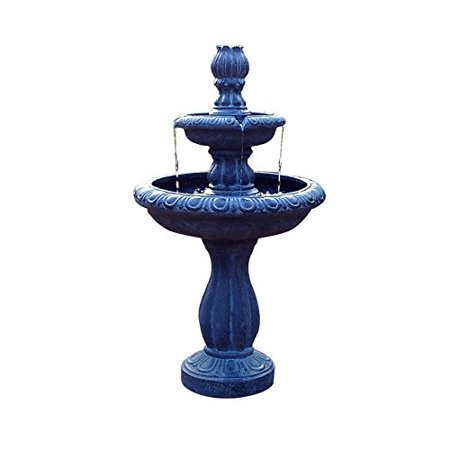 - ASC Solar Water 2-tier Tulip Fountain with Pump Kit