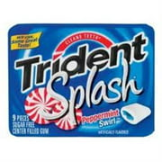 Trident Splash Sugar Free Gum Peppermint Swirl 10 pack (9 ct per pack) (Pack of 3)