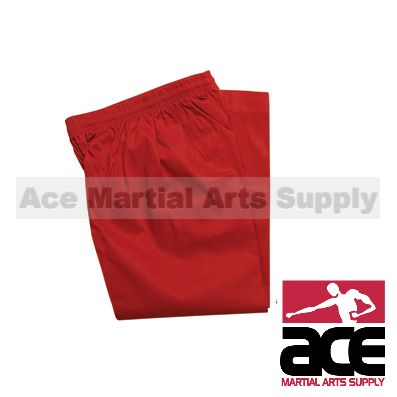 Color Martial Arts Uniform Pants (Karate and Taekwondo), Red