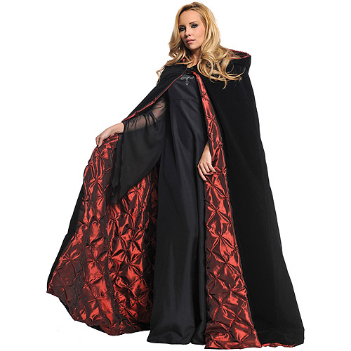 Velvet Cape with Ember Lining Deluxe Adult Halloween Accessory