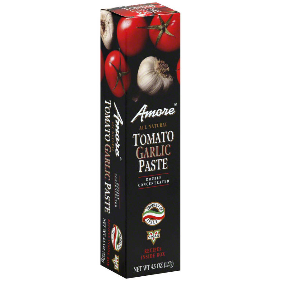 Amore Tomato Garlic Paste, 4.5 oz, (Pack of 12)