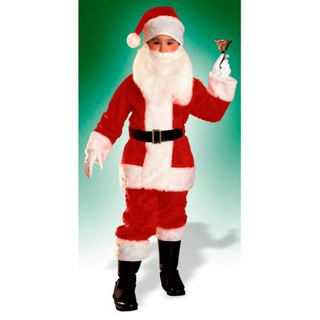 Boys Plush Santa Suit - Size Medium - Boys Santa Suit