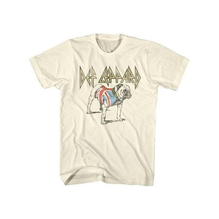Def Leppard 80s Heavy Metal Band Rock n Roll British Bulldog Adult T-Shirt Tee
