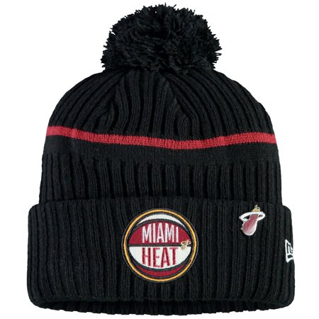 Miami Heat Halloween 2019 (Miami Heat New Era 2019 NBA Draft Cuffed Knit Hat - Black -)