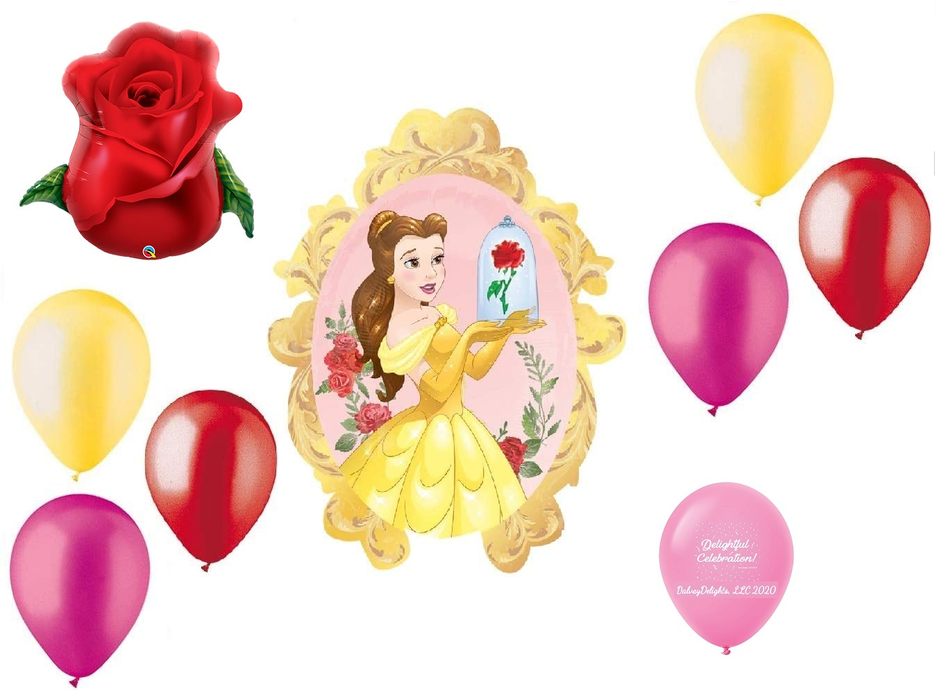 Birthday Card Belle Beauty /& the Beast black Satin Ribbon jeweled rose popped up