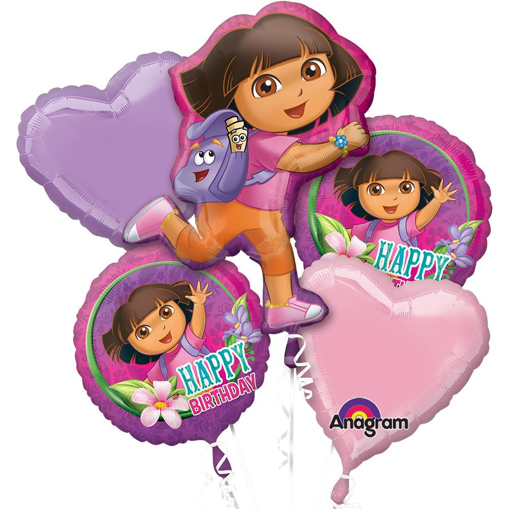 Dora The Explorer Bday Balloon Bouquet Each