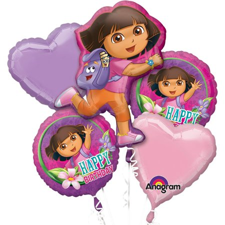 Dora The Explorer Bday Balloon Bouquet (Each) - Party Supplies