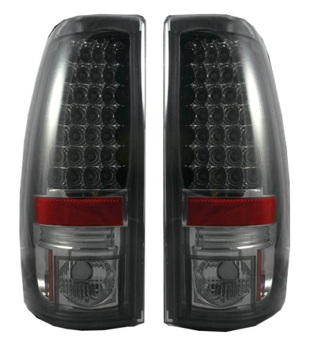 99-06 GM Silverado/Sierra LED Tail Lights, Smoke Lens