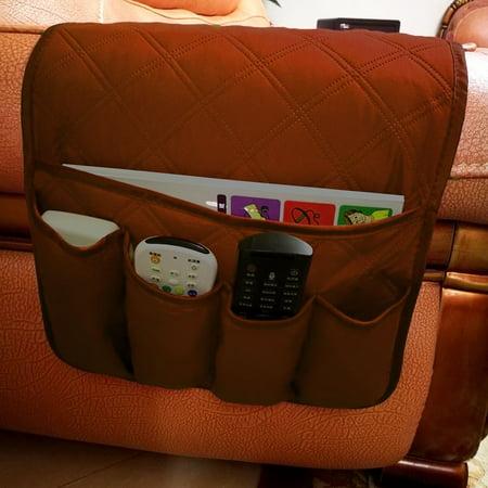Waterproof Pongee Armchair Sofa Chair Storage Bag Remote Control Phone Sundries Holder Household Bedside Organizer Hanging Bag