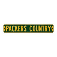 """Green Bay Packers Country 6"""" x 36"""" Steel Street Sign - Green - No Size"""