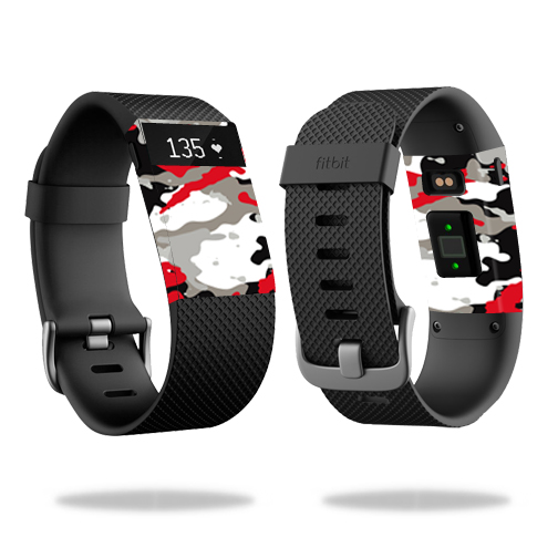 Skin Decal Wrap for Fitbit Charge HR cover skins sticker watch Red