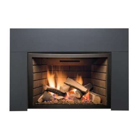 Sierra Flame ABBOT-30BL-DELUXE-LP 30 in. Abbott Insert Direct Vent Gas Fireplace - Deluxe with Logs - Liquid Propane Direct Vent 30 Insert