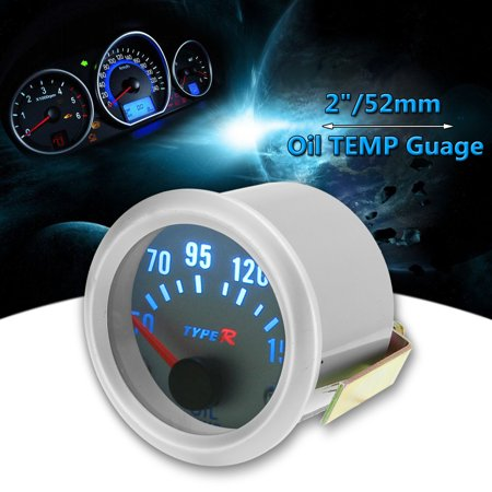 Universal 2'' 52mm Blue LED Car Pointer Oil Temperature Temp Meter Gauge 50-150℃
