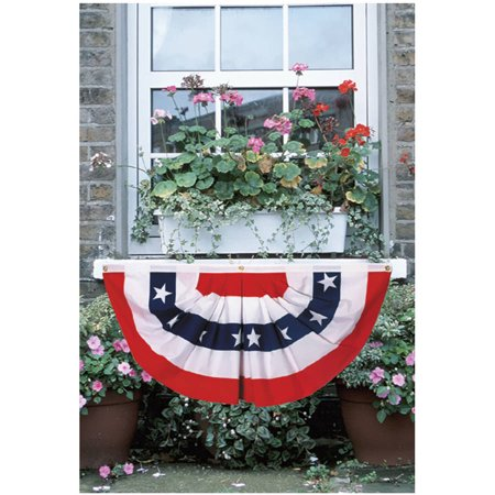 Betsy Flag 1-1/2-Foot x 3-Inch Pleated Mini American Fan Flag With Stars Bunting