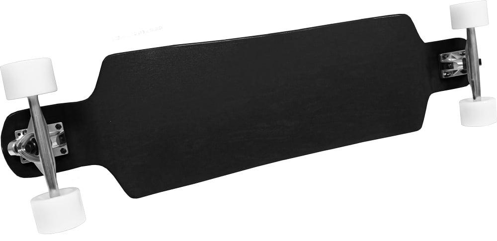 Black Freestyle Longboard Drop Down Canadian maple heavy duty parts by