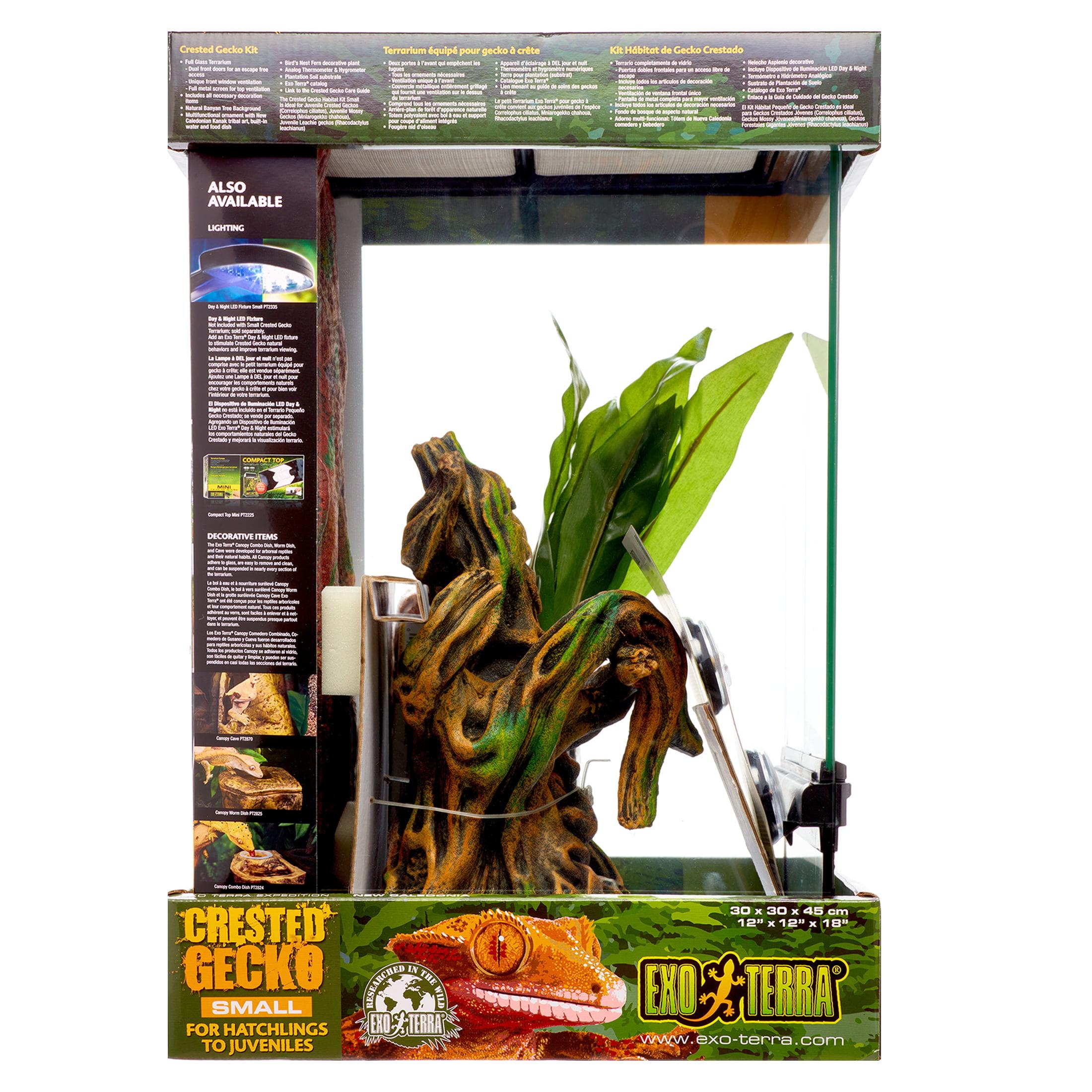 Exo Terra Small 11 Gallon Crested Gecko Habitat Kit Walmart Com Walmart Com