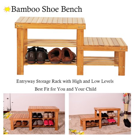 3-Tier Shoe Rack Bench, SEGMART 35