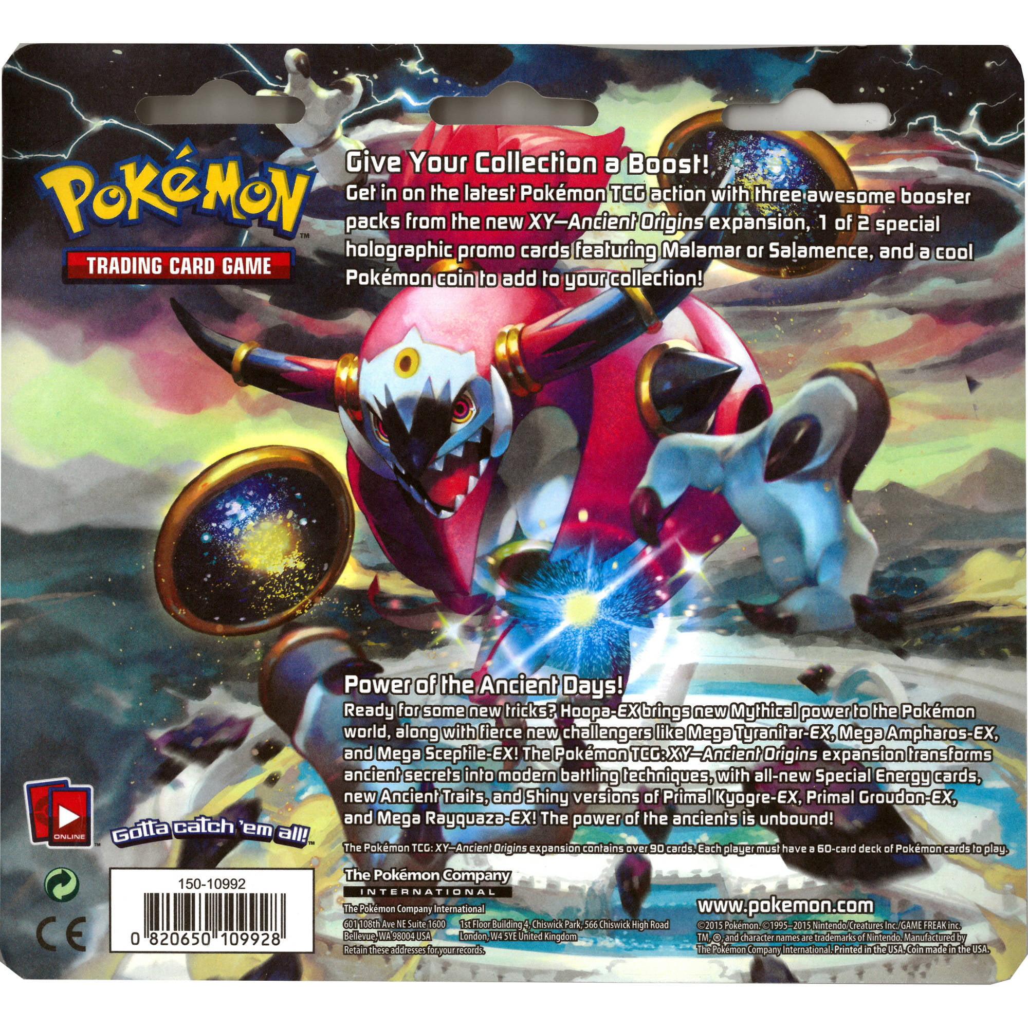 Primal Kyogre Card Pokemon Xy 7 Ancient Origins Double Blister 3Pk  Walmart