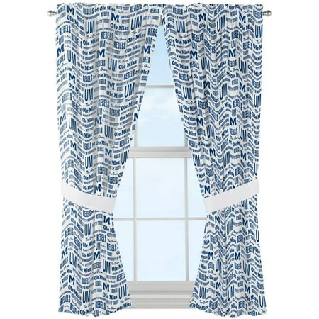 NCAA Ole Miss Rebels Anthem Window Curtain Panels