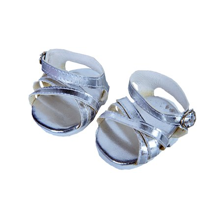 """Silver Shine Sandals w/Buckle clothes fits 12"""" Snuggl"""