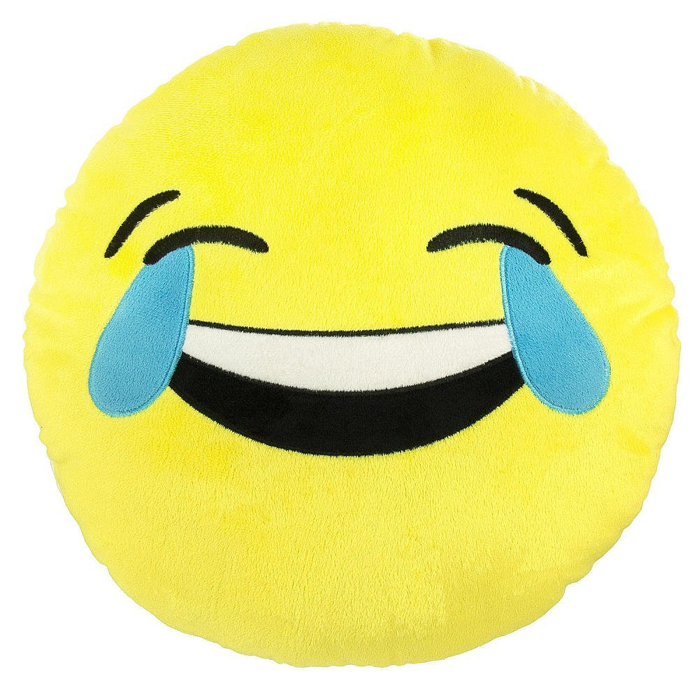 """Emoji Tears of Joy Expression Smiley Face Emoticons 9"""" Round Pillow Plush Cushion - Yellow, EMOJI PILLOW FOR KIDS: Featuring the hottest Emoji tears of Joy laugh /.., By Emoji Expressions"""