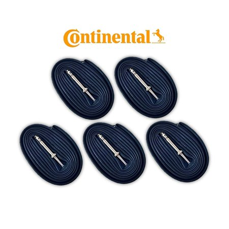 Race 28 700c x 18-25 Bike Tubes (5 Pack) - 60mm Presta Valve, These are BULK tubes without factory packaging. By Continental - Bike Race Halloween 5