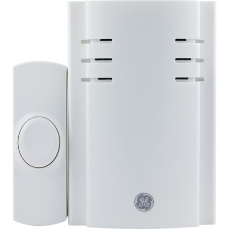 GE Wireless Plug-In Door Chime, Door Bell, with One Push Button