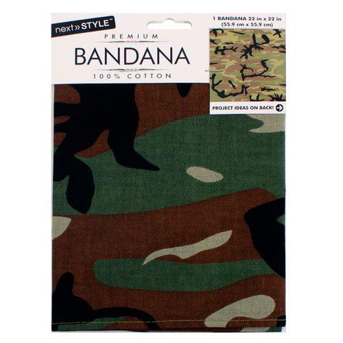 Next Style Green Camo Bandana