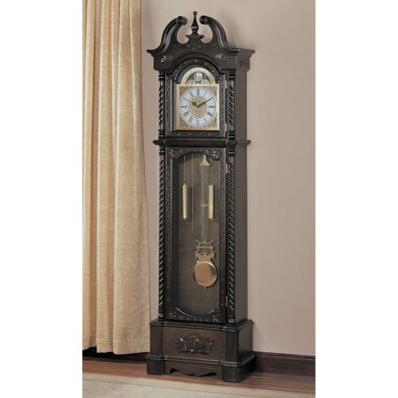 Coaster Grandfather Clock, Model# 900721 Curio Cabinet Floor Clock