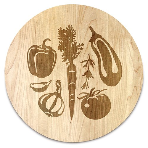 Martins Homewares Farmers Market Round Serving Tray