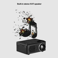 Untra HD 1080P LCD LED Android Smart 3D Home Theater Projector Portable AV USB (Black)