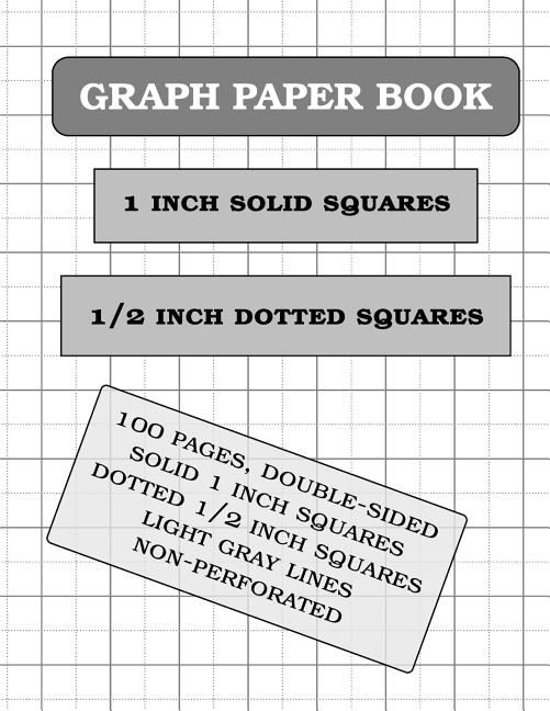 graph paper notebook  1 and 0 5 inch squares  2 squares
