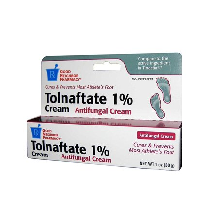 GNP Tolnaftate 1% Anti-Fungal Cream, Cures & Prevents Most Athlete's Foot, (Best Over The Counter Athletes Foot Cure)