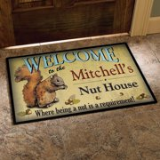 """Personalized Nut House Doormat, 24"""" x 36"""""""