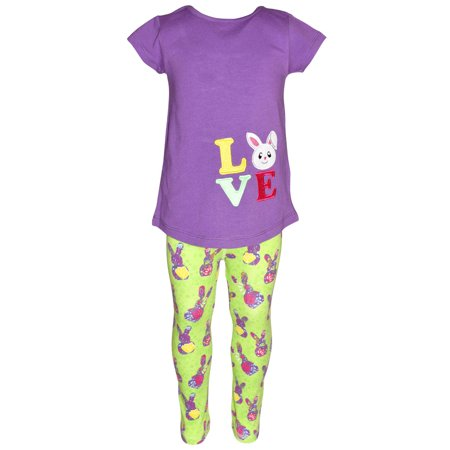 Girls Easter Bunny Love 2 Piece Outfit (8)